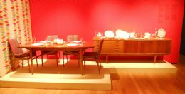 Archie Shine Rosewood & Teak Dining Room Suite by Robert Heritage  AS SEEN IN EXHIBITION at COMPTON VERNEY, WARKS